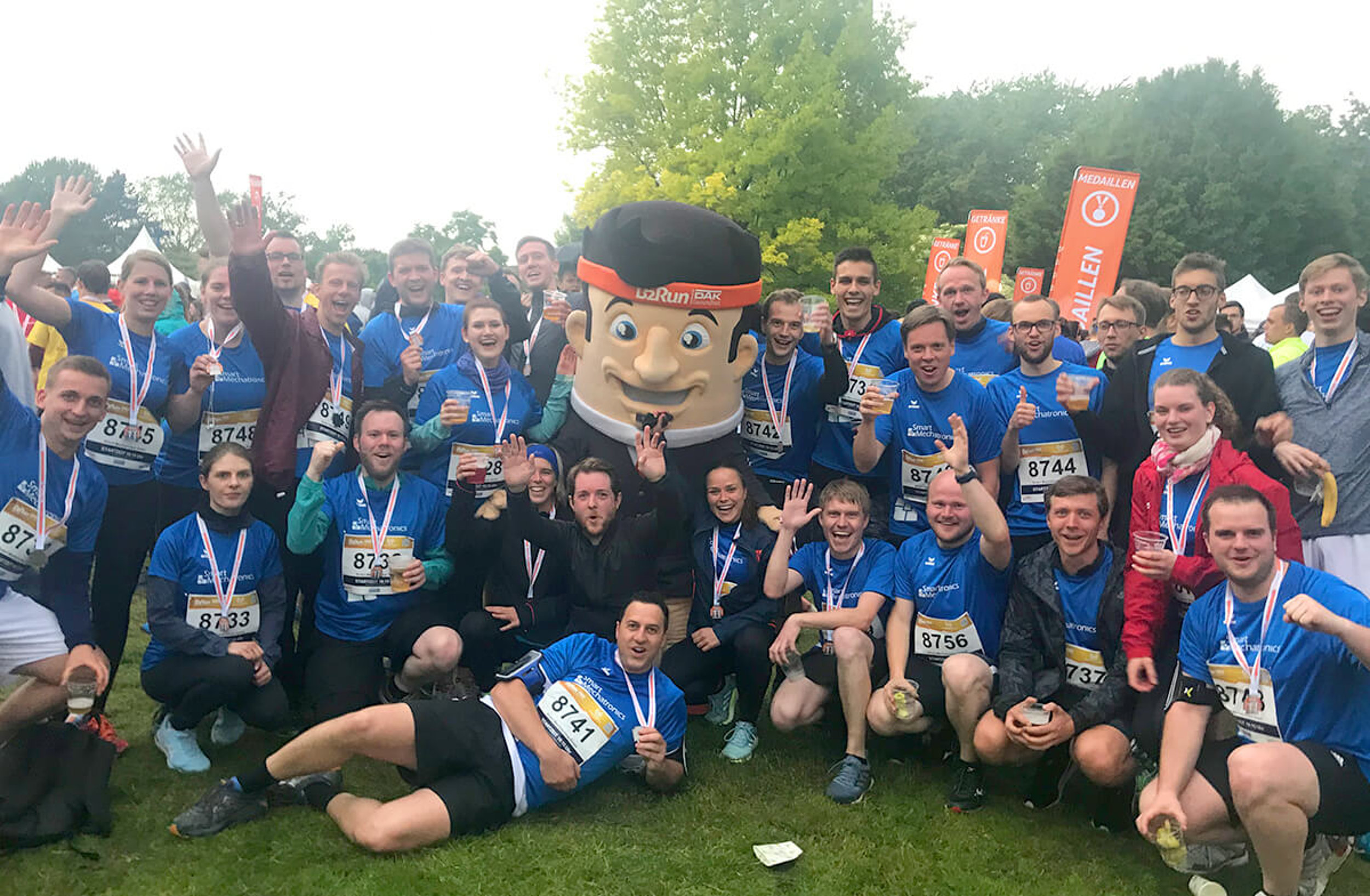 Smart Mechatronics bei B2Run Lauf in Dortmund